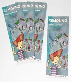 """Ilustrador Alexiev Gandman: Señaladores del libro """"Remolino"""" - Lúdico Edicione..."""