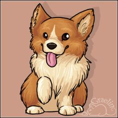 Want to discover art related to corgi? Check out inspiring examples of corgi artwork on DeviantArt, and get inspired by our community of talented artists. Cute Animal Drawings, Cute Drawings, Corgi Cartoon, Corgi Drawing, Corgi Pictures, Corgi Dog, Baby Corgi, Dog Art, Belle Photo