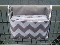 Coupon Organizer Cash Budget Organizer Holder- Attaches to your Shopping Cart - NEATO! wish i had  the cupons to fill this!