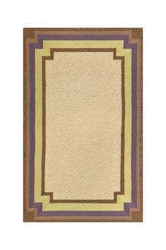 Multi-Trim Brown & Purple Indoor-Outdoor Rug (Liora Manne)