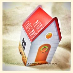 Casetta di carta di Natale  scatolina di zolushka65 su Etsy