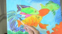 Painting with acrylics: Tropical fish | Talens Art Creation