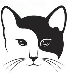 Animal Stencil, Stencil Art, Animal Silhouette, Silhouette Art, Cat Signs, Cat Quilt, Scroll Saw Patterns, Cat Drawing, Cat Tattoo