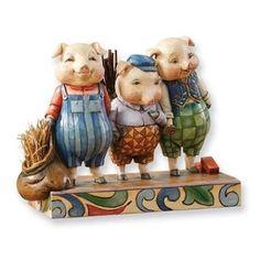 Jim Shore Heartwood Creek Three Little Pigs | eBay