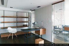 Home Living Room, Bookshelves, Interior Design, Table, Furniture, Shelf Ideas, Google, Home Decor, Study