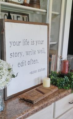 Hey, I found this really awesome Etsy listing at https://www.etsy.com/listing/458074868/wood-quote-sign-your-life-is-your-story