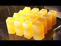 Sabão de Bicarbonato CLar eador Roupas e Panelas - YouTube Cold Process Soap, Natural Cosmetics, Bath And Body, Candles, Homemade, Youtube, Pasta, Soap Recipes, Homemade Fabric Softener