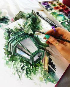 "9,279 Likes, 32 Comments - Watercolor illustrations  (@watercolor.illustrations) on Instagram: "" Watercolorist: @juliabarminova #waterblog #акварель #aquarelle #drawing #art #artist #artwork…"""