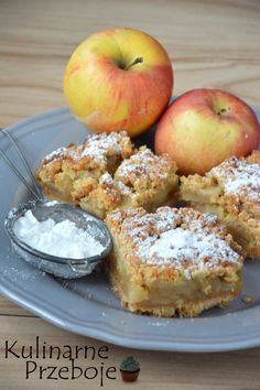 Polish Desserts, Polish Recipes, Good Food, Yummy Food, Sweet Cakes, Homemade Cakes, Apple Recipes, Cakes And More, I Foods