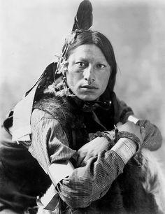 +~+~ Antique Photograph ~+~+  Joseph Two Bulls, Dakota Sioux, by Heyn & Matzen Photo.  Omaha Nebraska 1900.