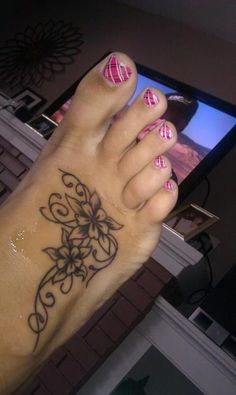 Foot Tattoo. Add some color