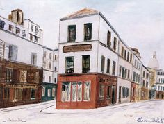 Au Consulat d'Auvergne, 1936 par Maurice Utrillo (1883-1955)