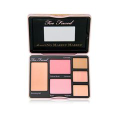 Too Faced Cosmetics Too Faced Cosmetics The Secret to No Makeup Makeup... ($35) ❤ liked on Polyvore featuring beauty products, makeup, face makeup, beauty, cosmetics, palette makeup and too faced cosmetics