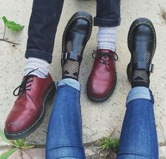 Martens cherry red 1461 shoes and Bethan Mary-Janes shared by Dr. Martens, Dr Martens Stil, Doctor Martens, Red Doc Martens, Doc Martens Outfit, Doc Martens Style, Doc Martens Boots, Mary Jane Doc Martens, Sock Shoes