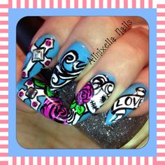 Nail art. No pointy nails for me but love the art