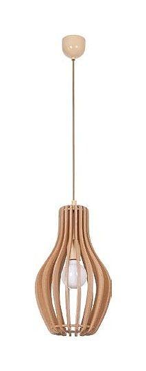 Lightbulb in wooden enclosing