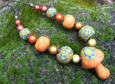 Millefiori mushroom pendant necklace handmade by thehappymushroom, £9.00