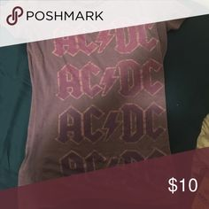 AC ⚡️ DC shirt Purple and pink AC⚡️DC shirt Tops Tees - Short Sleeve