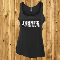 This Im Here For The Drummer tank is perfect for the concert going, gig attending, drummer loving girl! Tshirts are 100% cotton unless otherwise stated. Printed with high quality vinyl these items will survive many years of washing. **Sizes** S - UK Womens 6-8 (To fit chest size 33-35 inches) M - UK Womens 10-12 (To fit chest size 34.5-36.5 inches) L - UK Womens 14-16 (To fit chest size 36.5-38.5) XL - UK Womens 18-20 (To fit chest size 38.5-40.5)  Please ensure you have purchased the…