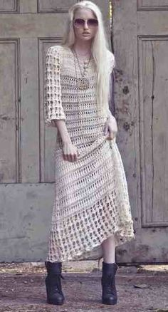 Vestido Crochê Bonita. / Beautiful Crochet Dress.