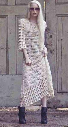 Vestido Crochê Bonita. / Beautiful Crochet Dress.