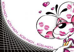 Küss mich!   Diddl   Echte Postkarten online versenden   Diddl
