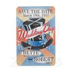 Save The Date - Who would miss a Hollywood Themed Wedding Day! Starring you as the Bride!