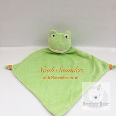 Personalised Baby Gift Comforter Frog baby by BrotherBearBoutique