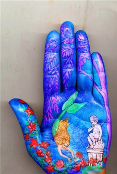 Palm Drawing of Hans Christian Andersen tales by Svetlana Kolosova Elements And Principles, Elements Of Art, Hans Christian, Trash Art, Beautiful Fairies, Middle School Art, Hand Art, My Favorite Color, Altered Art