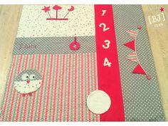 Nouveauté 2015 pour les créations bébés, le fameux tapis d'éveil ou tapis de jeux! J'ai choisi de prendre comme dimension 1 mètre par 1 mètre. Pour cela il suffit de découper un premier…