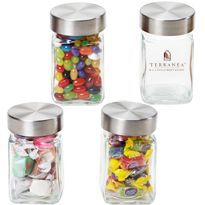 Small Executive Glass Jars Party Favors, Weddings Hotel Resort Mini Bar Candy Nuts Cashews