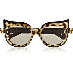 Anna-Karin Karlsson Leaving Cuckoo's Nest cat eye acetate sunglasses found on Polyvore