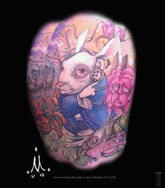 White rabbit tattoo by Mylesjosh.deviantart.com on @deviantART