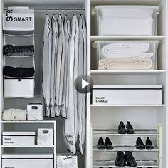 Distribución de armario ordenado