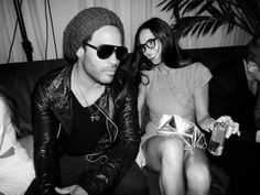Lenny Kravitz and Demi Moore