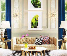 Jonathan Adler living room.