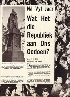 Republiekdag. 31 Mei. Republic Day, South Africa, Names