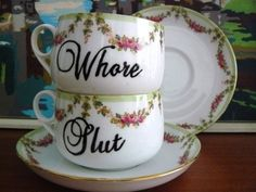 I need these. They would make for more interesting tea parties.