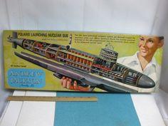 Vintage Renwal Andrew Jackson Polaris Launching Nuclear Sub Model Kit in Box   eBay