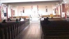 "The lower church of Visitation B.V.M., ""B"" Street and Lehigh Avenue.  Holy Thursday Night, April 17th, 2014."
