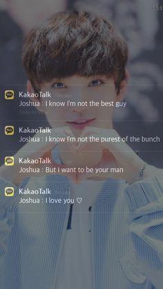 ❤️Joshua as your boyfriend ❤️ Joshua Seventeen, Seventeen Jun, Seventeen Wonwoo, Woozi, Bts Texts, Hong Jisoo, Joshua Hong, Seventeen Wallpapers, Pledis Entertainment