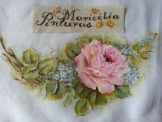 Rosas - Pintura em Lencinho Maricelia Montanari Silva #mariceliapinturas