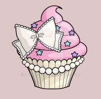 Cupcake tattoo by Lezzy-cat