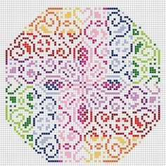 Colors hama perler beads design pattern