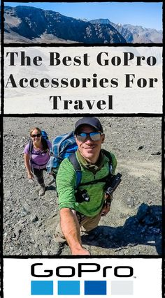The best GoPro accessories for Travel.  Here's a list of GoPro accessories every adventure traveler needs that we have used, abused and lasted years of full travel. Click to read more. #GoPro #TravelGear #AdventureTravel