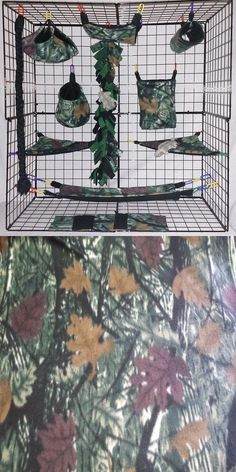 Other Small Animal Supplies 11289: Woodsman * 15 Pc Sugar Glider Cage Set * Rat * Double Layer Fleece BUY IT NOW ONLY: $42.0