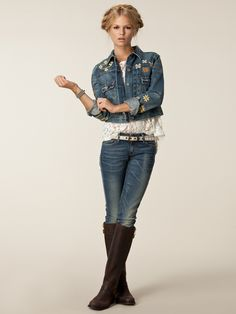 Denim Trucker Jacket - Denim & Supply Ralph Lauren - Denim Blue - Jackets And Coats - Clothing - Women - Nelly.com Uk