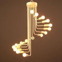 Ava-Modern Nordic Spiral Chandelier – A&T Creative Chandelier Lighting Fixtures, Dining Chandelier, White Chandelier, Iron Chandeliers, Light Fixtures, Edison Chandelier, Ceiling Fixtures, Hanging Bar, Hanging Lights