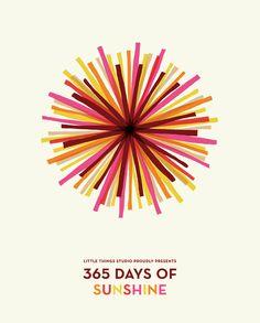(Lovely lovely lovely!) 365 Days of Sunshine 2013 Calendar by Kate Thomas / Little Things Studio, via Etsy.