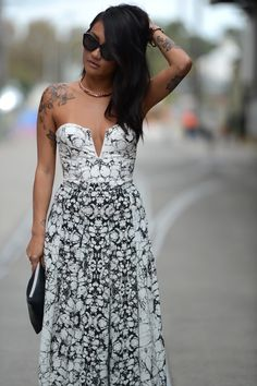 Tattoos and fashion or tattoos on fashion? Mel Tan is today's muse